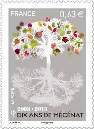 timbres des 10ans du mécénat